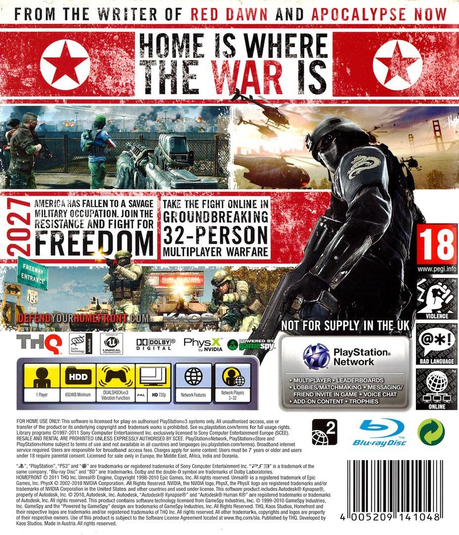 Homefront PS3 backHQ (BLES00962)