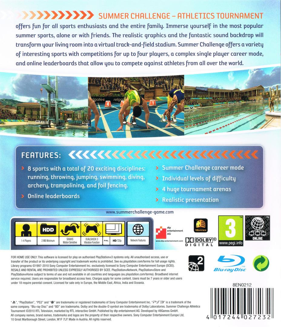 Summer Challenge: Athletics Tournament PS3 backHQ (BLES01011)