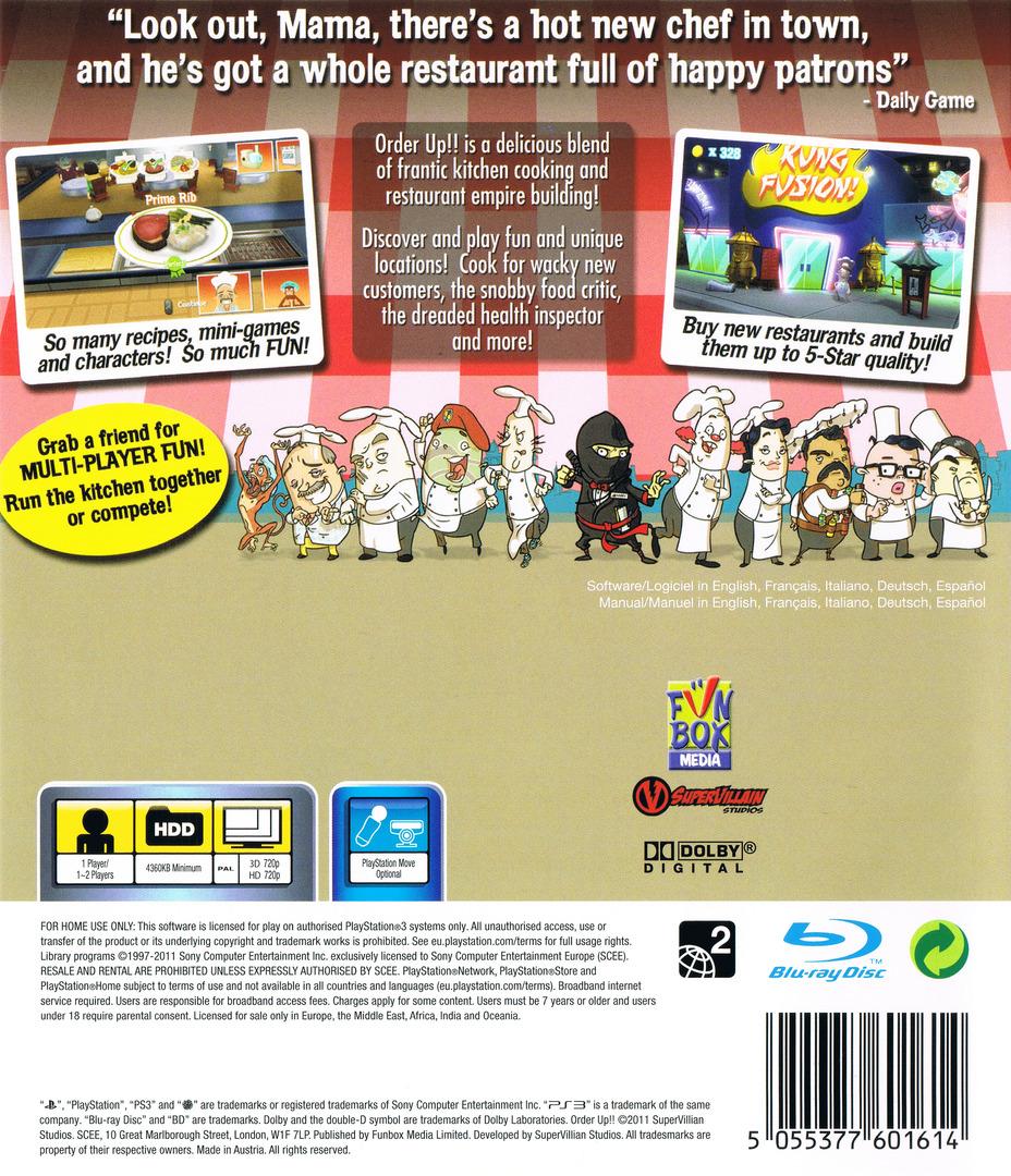 Order Up!! PS3 backHQ (BLES01470)