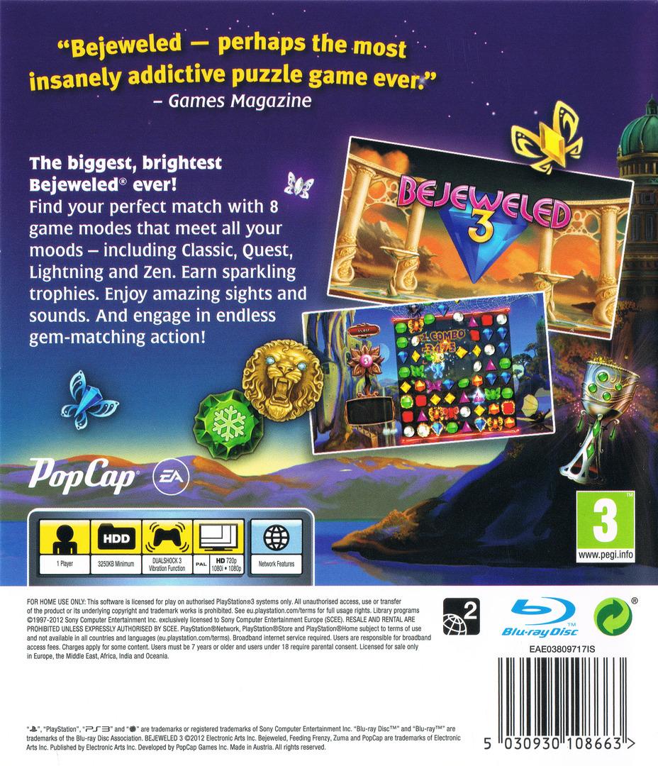 Bejeweled 3 PS3 backHQ (BLES01601)