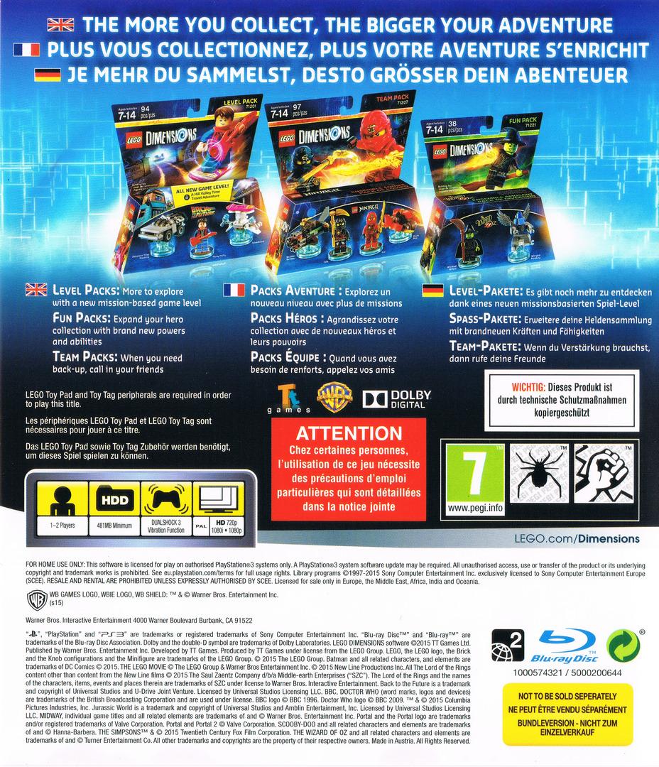 Lego Dimensions PS3 backHQ (BLES02105)
