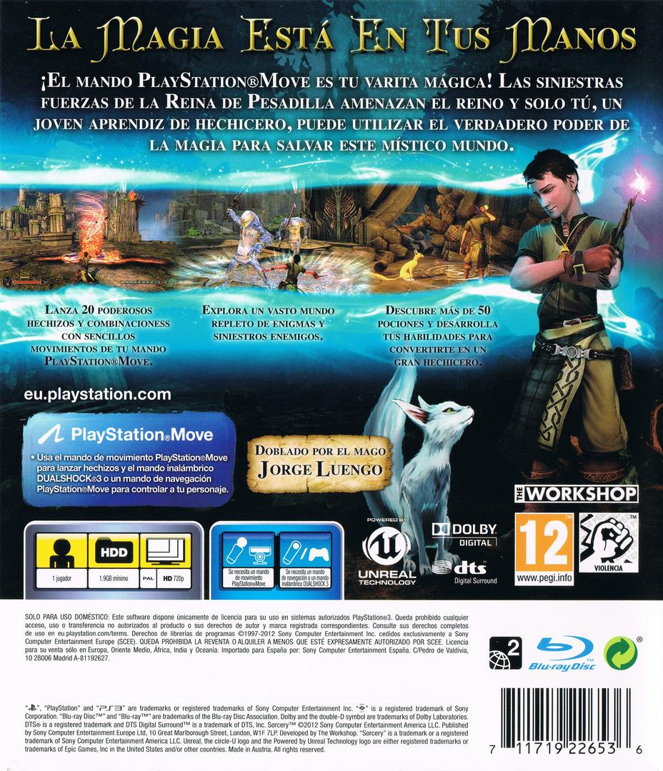Sorcery PS3 backHQ (BCES00819)