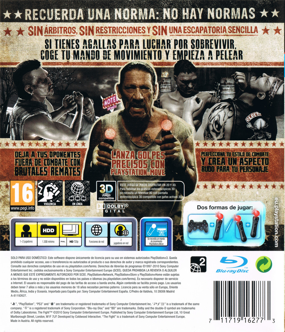 The Fight: Lucha o Muere PS3 backHQ (BCES00874)