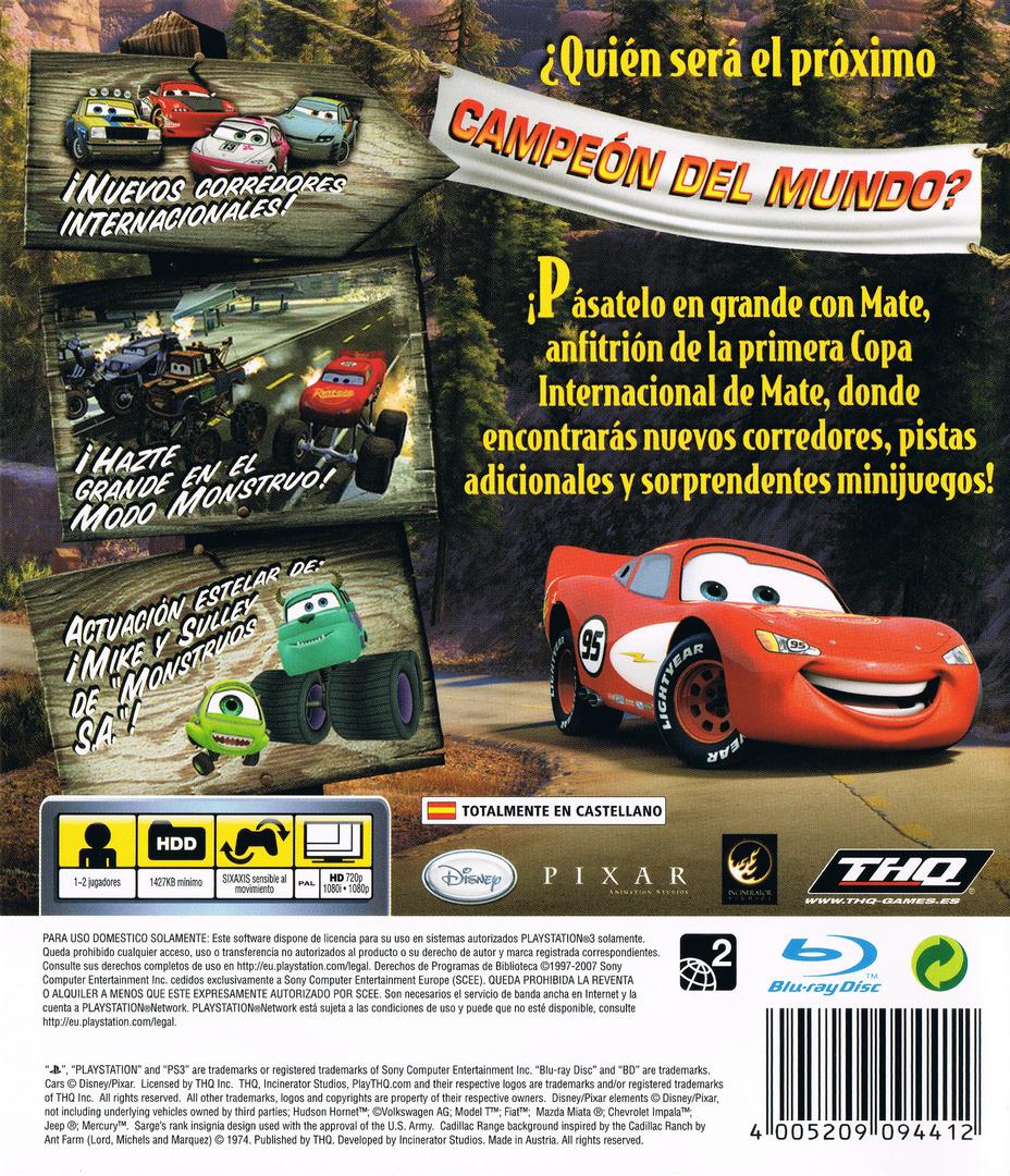Cars: La Copa Internacional De Mate PS3 backHQ (BLES00162)