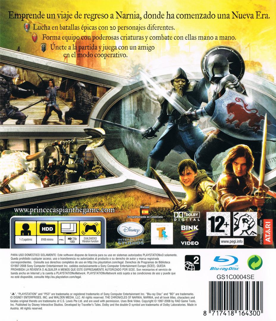Las Crónicas de Narnia: El Príncipe Caspian PS3 backHQ (BLES00251)