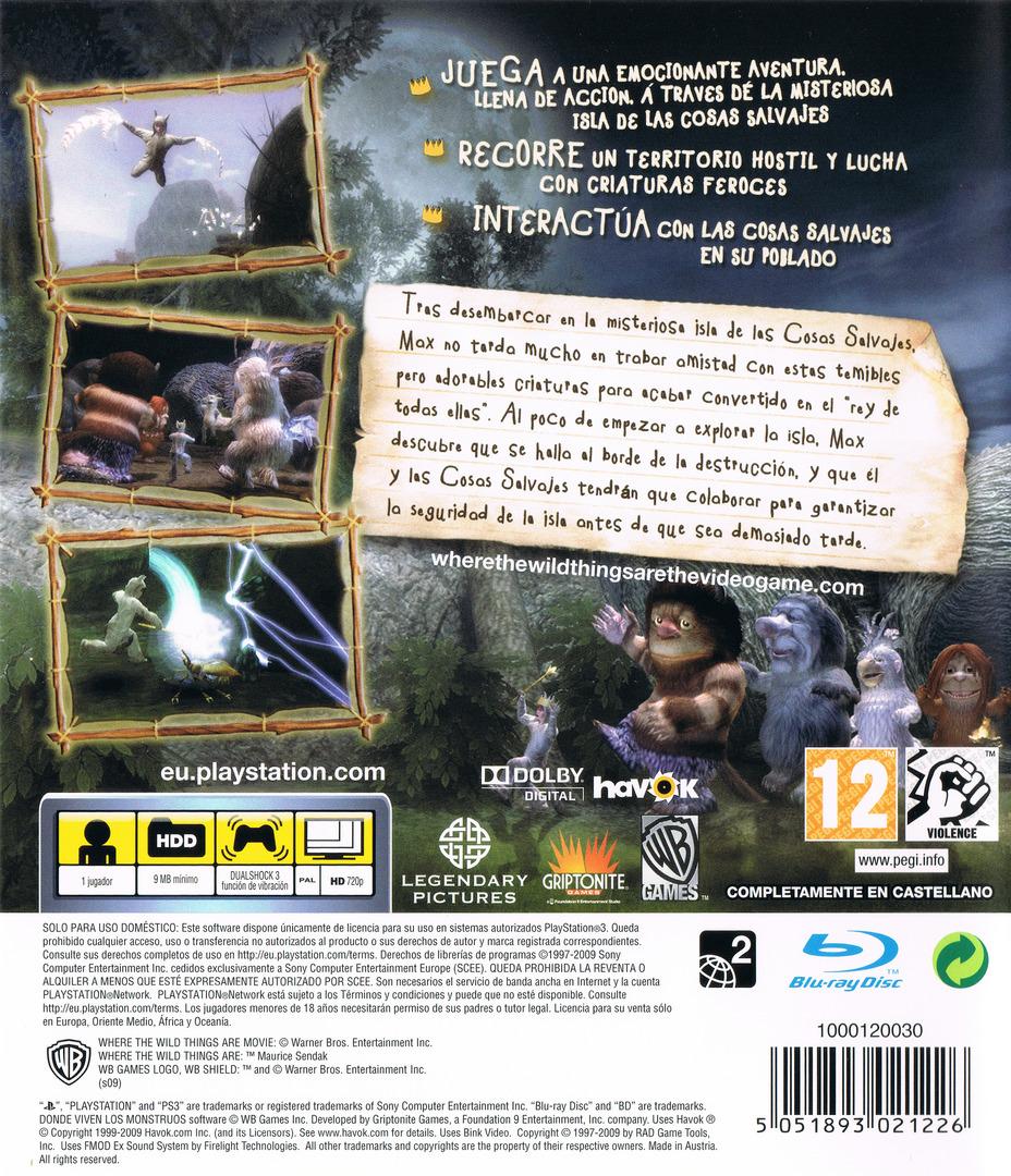 Donde viven los Monstruos PS3 backHQ (BLES00724)