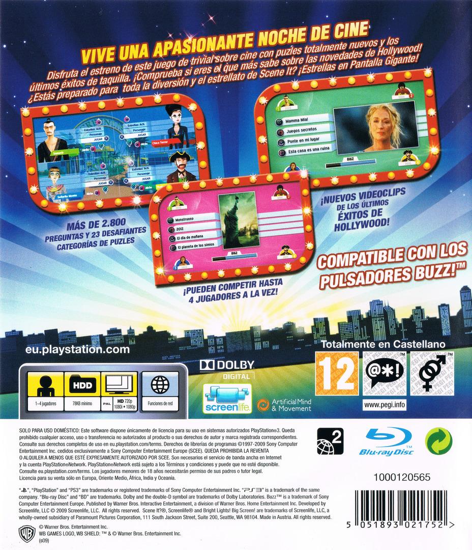 Scene It? ¡Estrellas en Pantalla Gigante! PS3 backHQ (BLES00733)