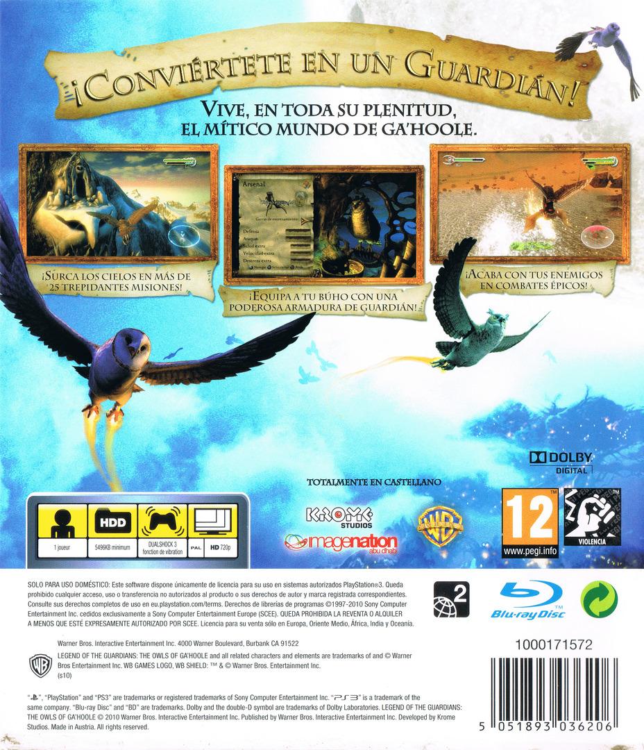 Ga'Hoole: La Leyenda de los Guardianes PS3 backHQ (BLES00964)