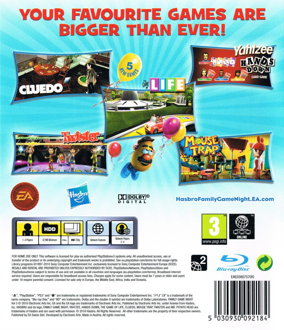 Hasbro Juegos en Familia 3 PS3 backHQ (BLES00973)