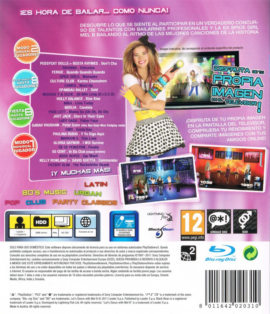 Let's Dance with Mel B PS3 backHQ (BLES01268)