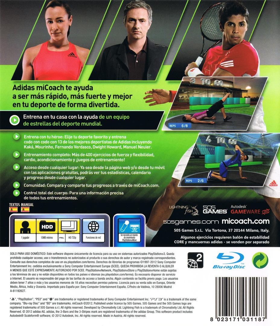 Adidas miCoach PS3 backHQ (BLES01529)