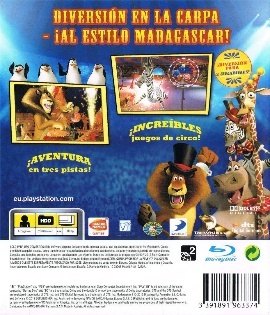 Madagascar 3: De Marcha por Europa PS3 backHQ (BLES01624)