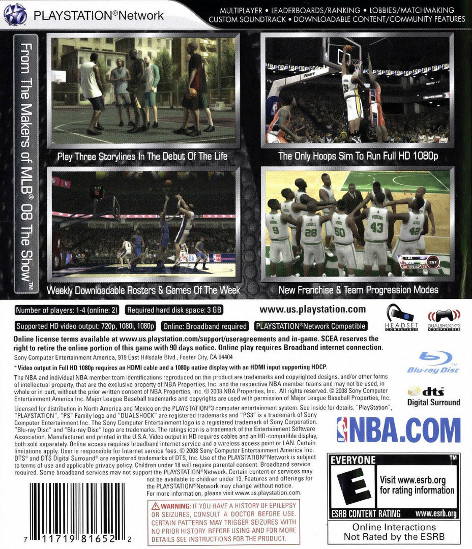NBA '09: The Inside PS3 backHQ (BCUS98165)