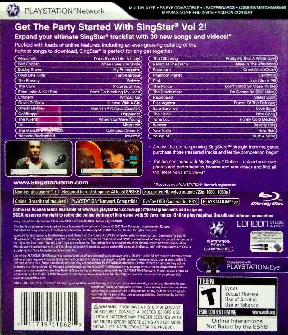 SingStar Vol.2 PS3 backHQ (BCUS98186)