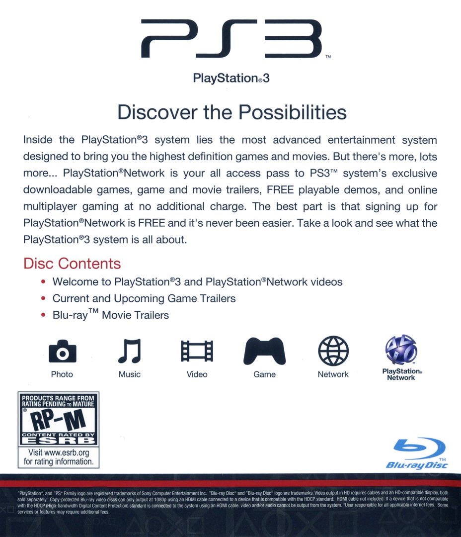 Welcome to PlayStation Network and PlayStation 3 Slim PS3 backHQ (BCUS98213)