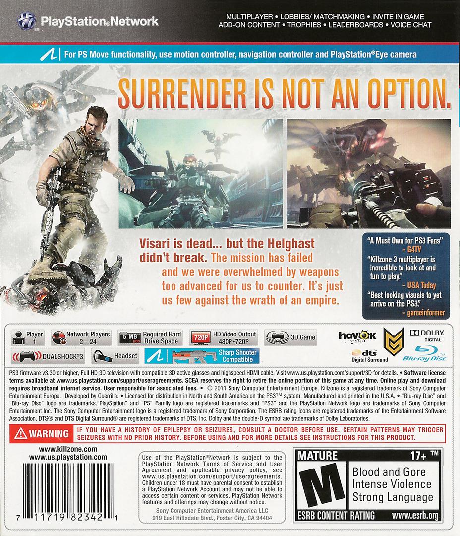 Killzone 3 PS3 backHQ (BCUS98234)