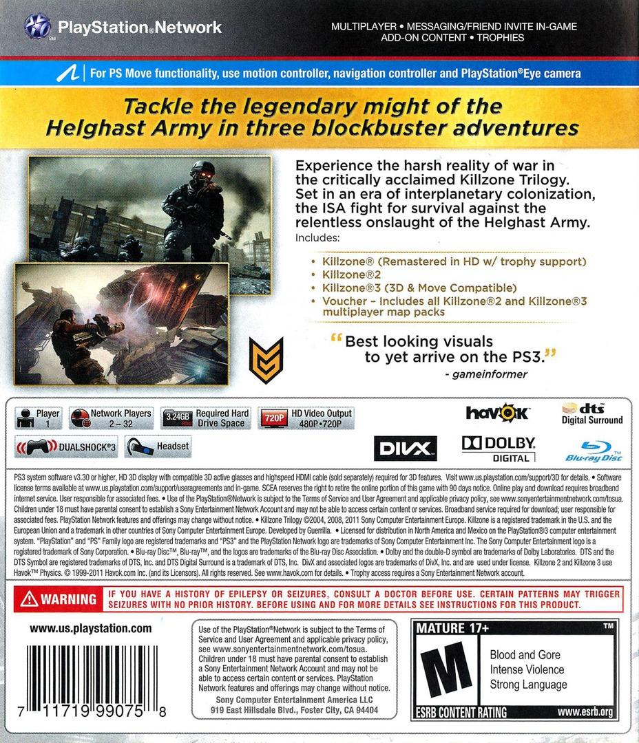 Killzone Trilogy PS3 backHQ (BCUS99075)