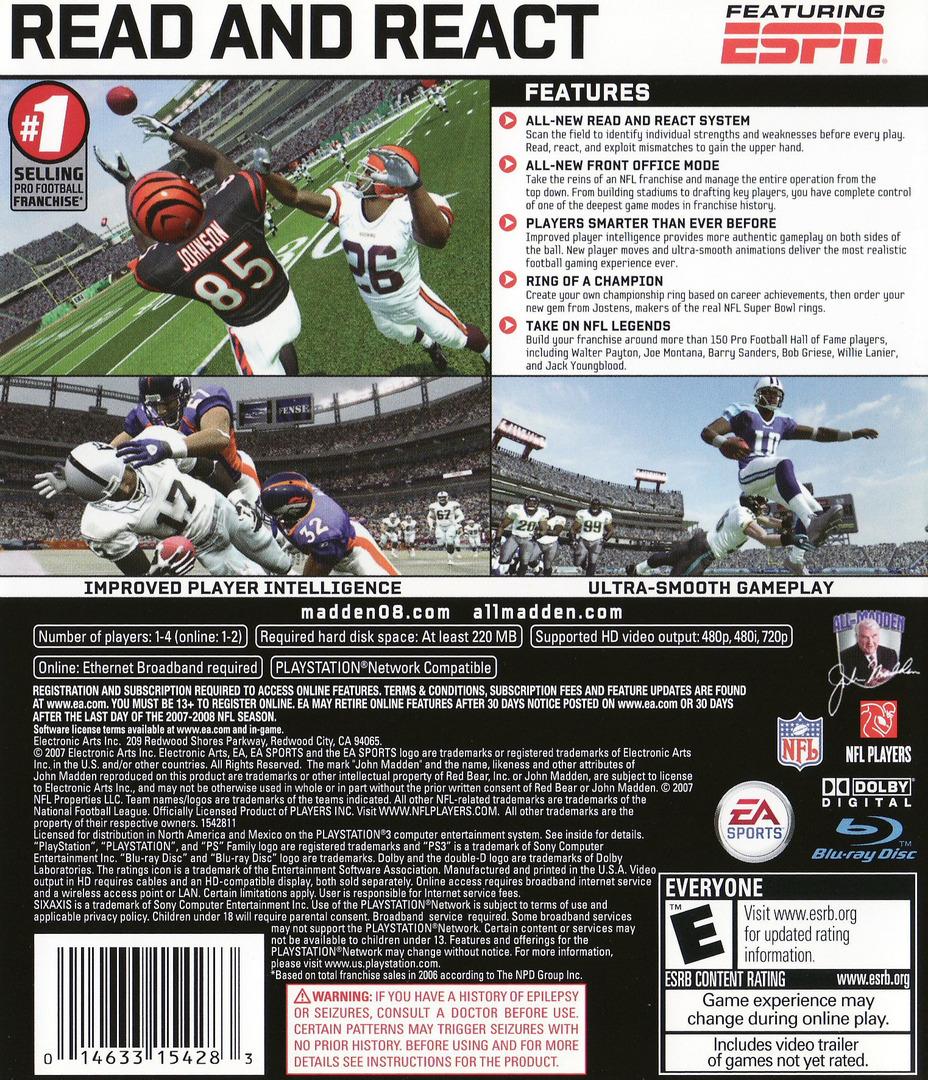 Madden NFL 08 PS3 backHQ (BLUS30037)