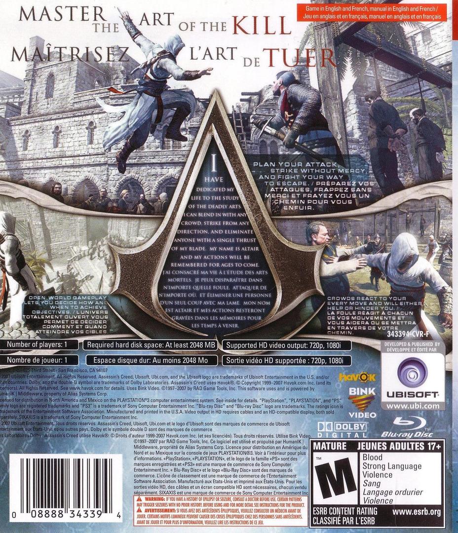 Assassin's Creed PS3 backHQ (BLUS30089)