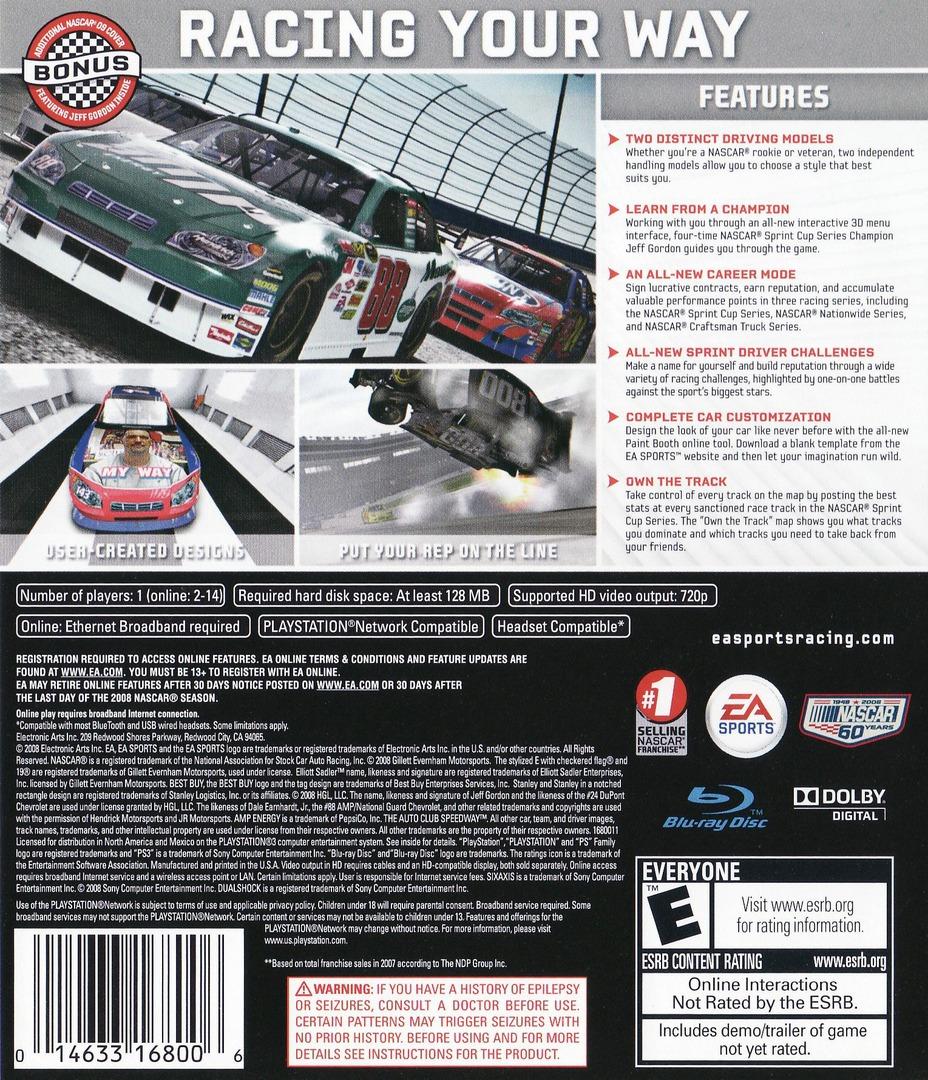 NASCAR '09 PS3 backHQ (BLUS30139)