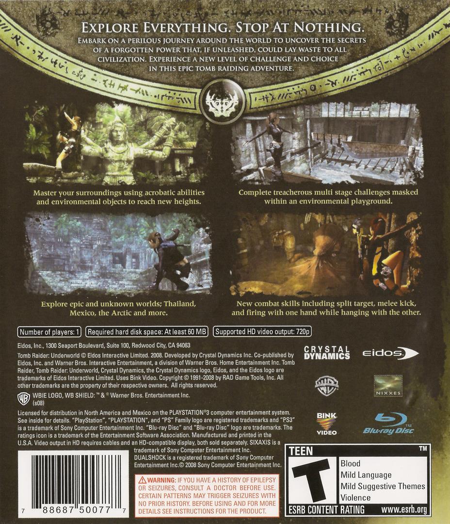 BLUS30224 - Tomb Raider: Underworld