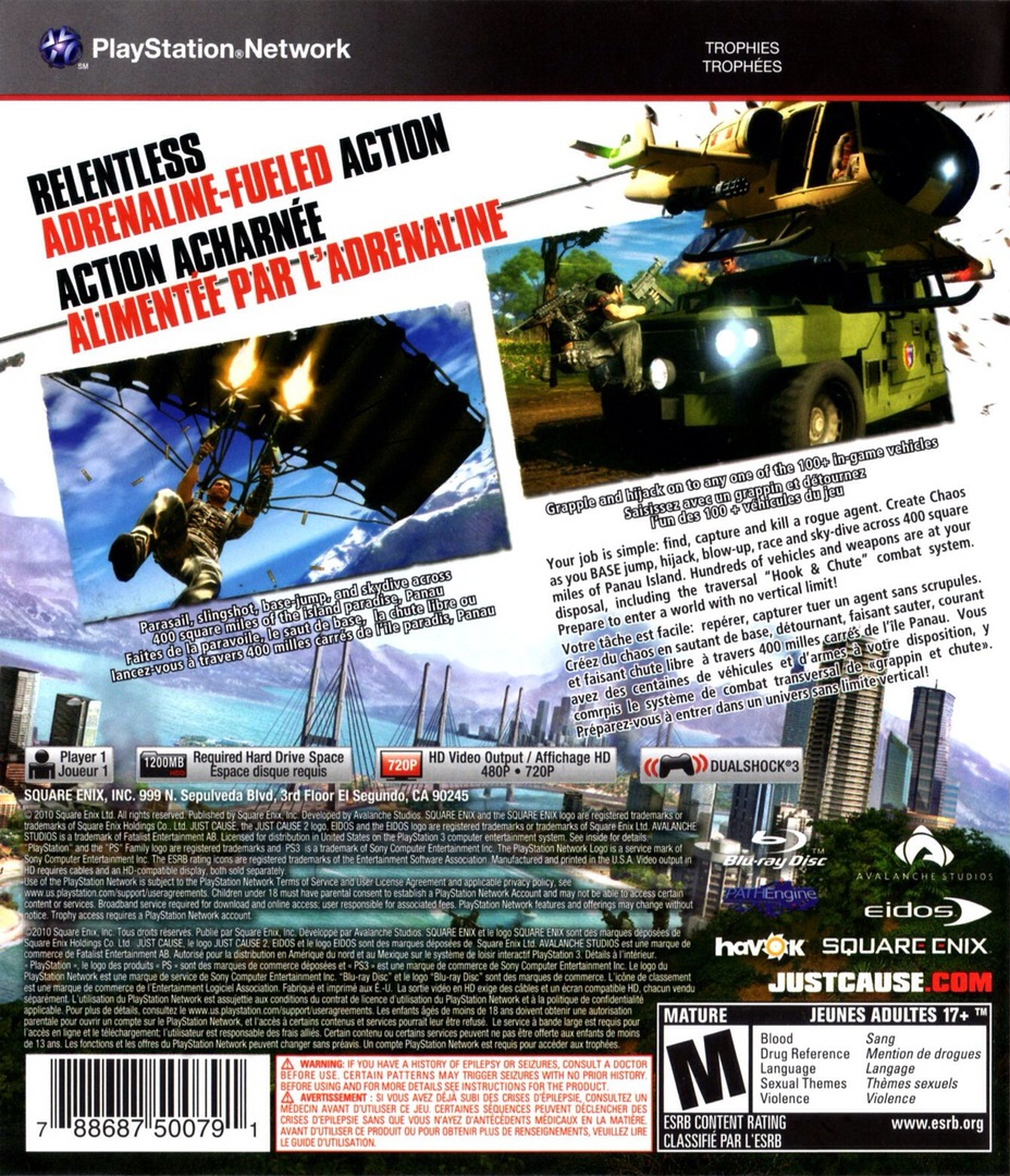 Just Cause 2 PS3 backHQ (BLUS30400)