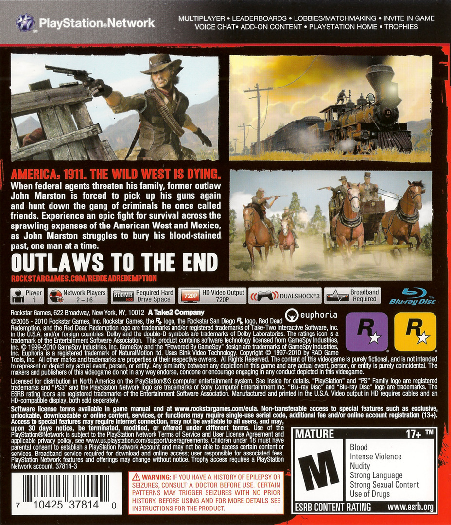 Red Dead Redemption PS3 backHQ (BLUS30418)