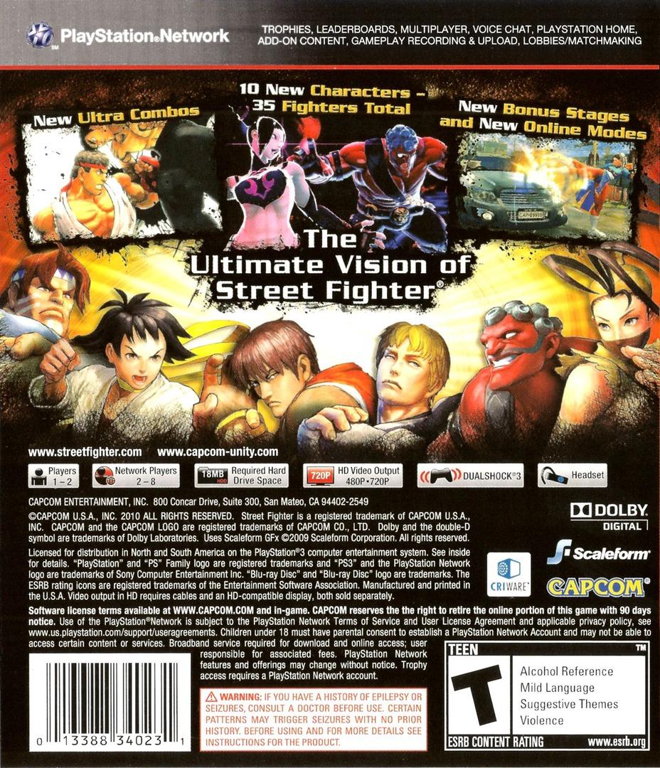 Super Street Fighter IV PS3 backHQ (BLUS30453)