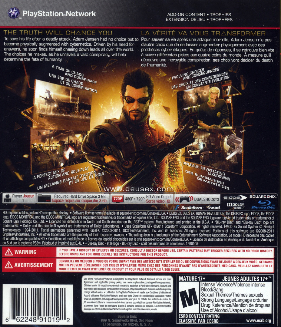 Deus Ex: Human Revolution PS3 backHQ (BLUS30476)