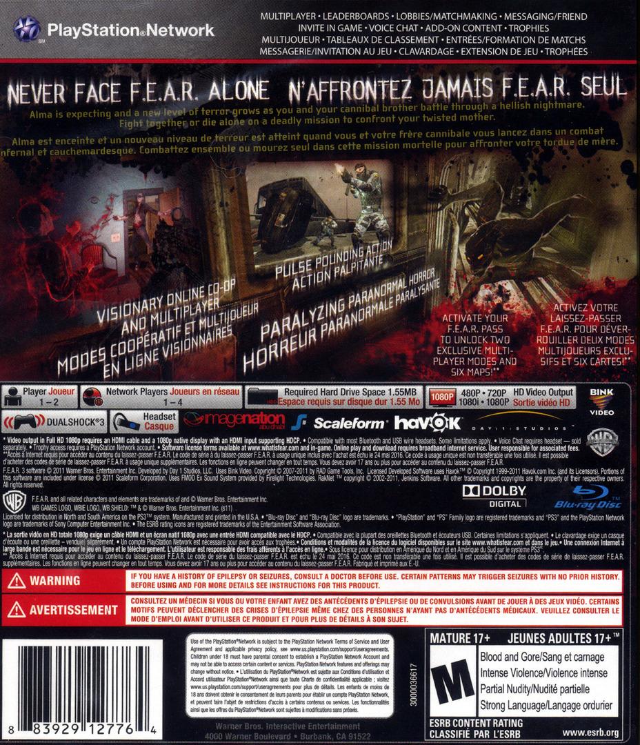 F.E.A.R. 3 PS3 backHQ (BLUS30511)