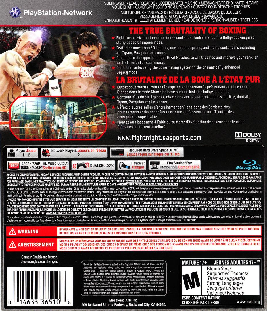 Fight Night Champion PS3 backHQ (BLUS30608)