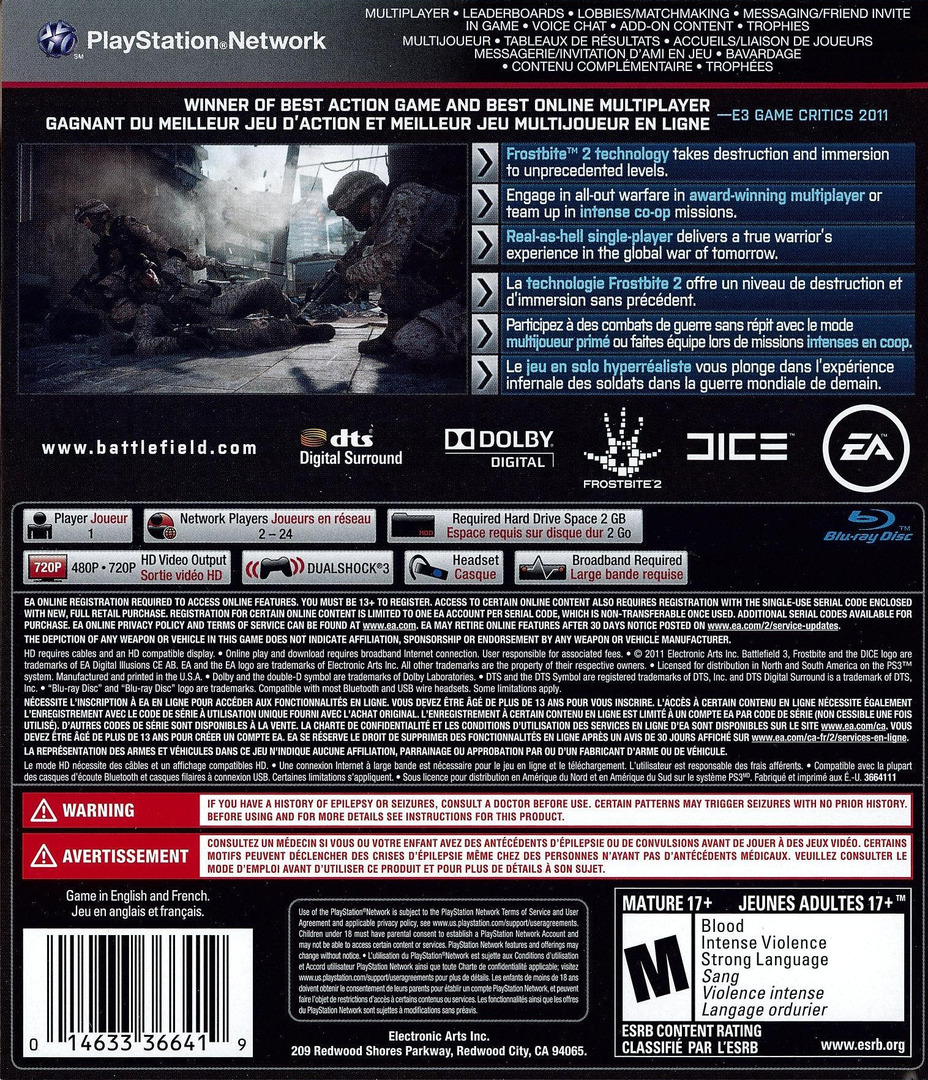 Battlefield 3 PS3 backHQ (BLUS30762)