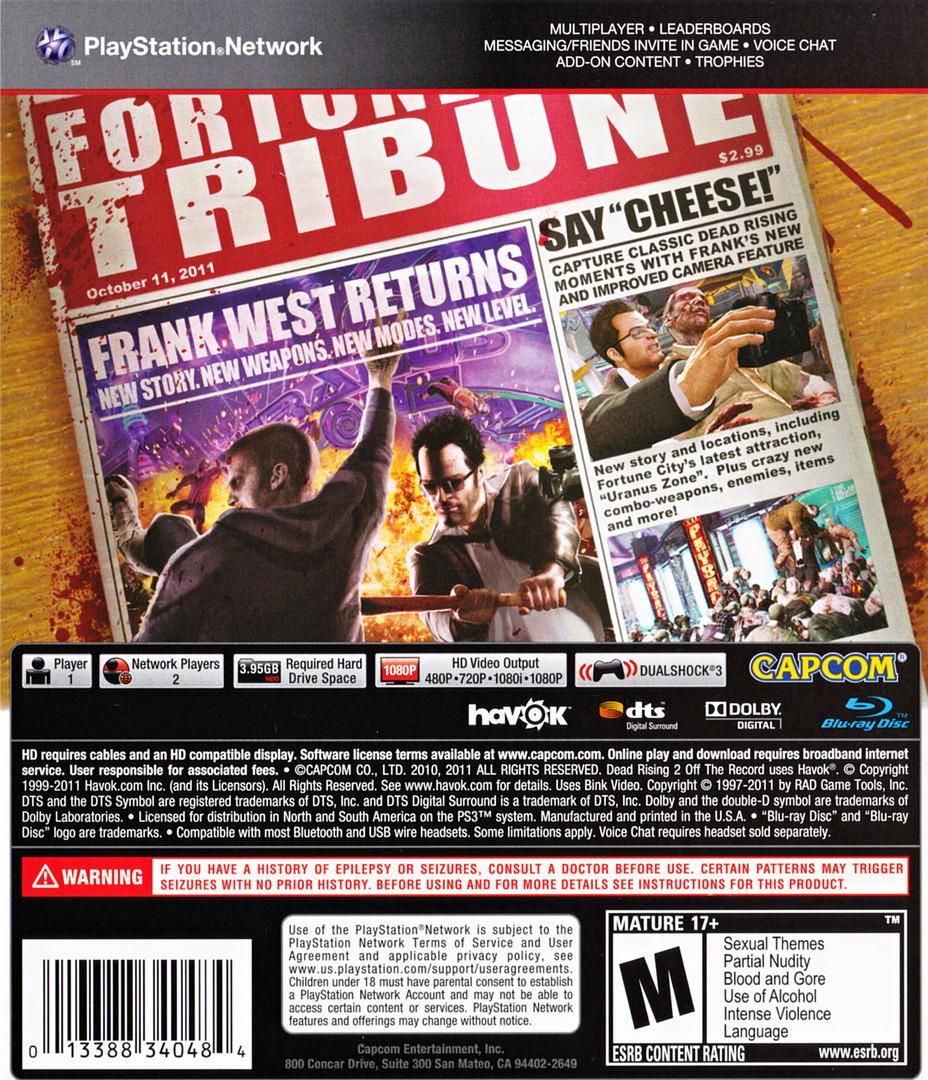 Dead Rising 2:Off the Record PS3 backHQ (BLUS30763)