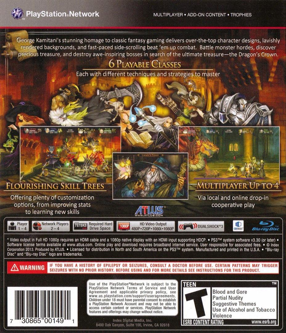 Dragon's Crown PS3 backHQ (BLUS30767)