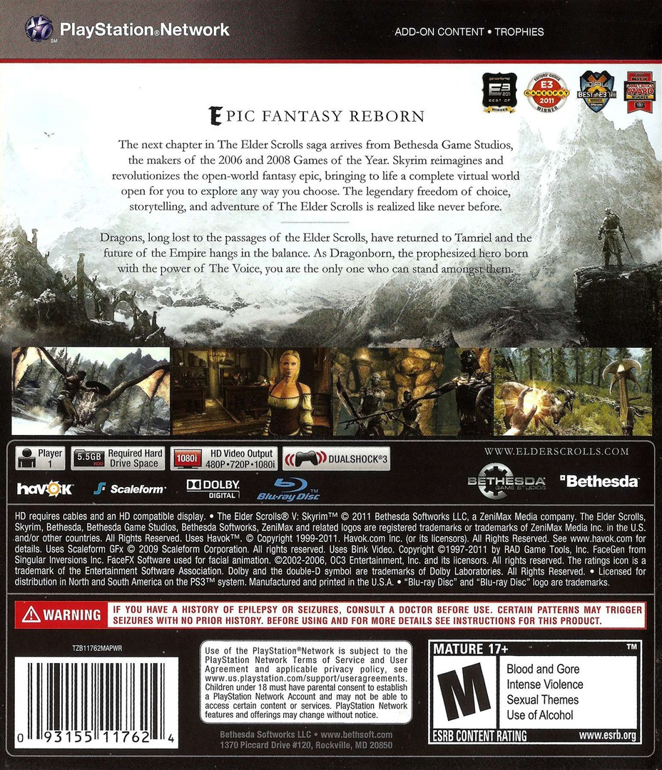 BLUS30778 - The Elder Scrolls V: Skyrim