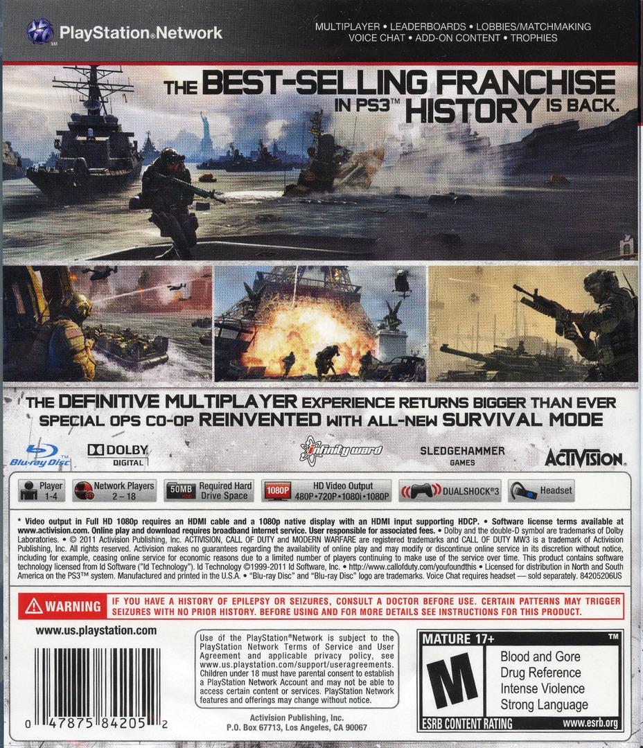 Blus30887 Call Of Duty Modern Warfare 3