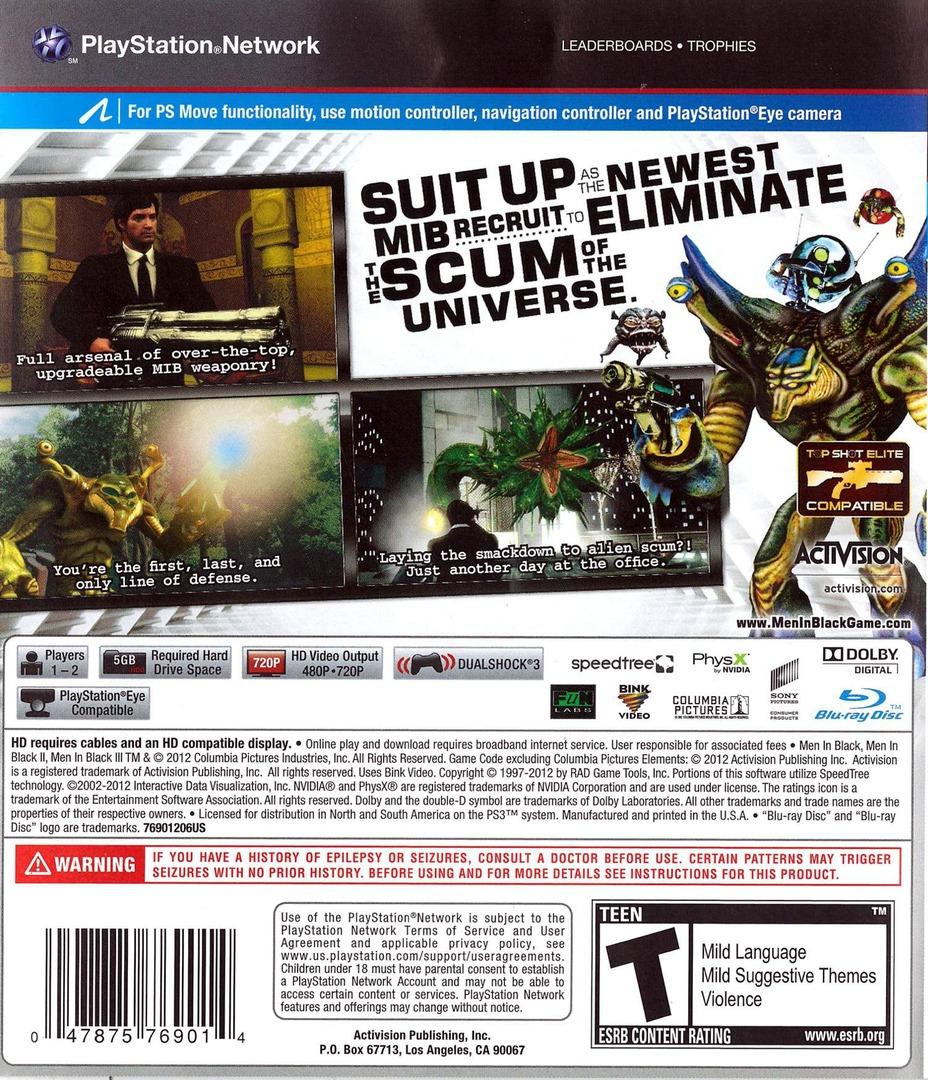 Men In Black: Alien Crisis PS3 backHQ (BLUS30922)