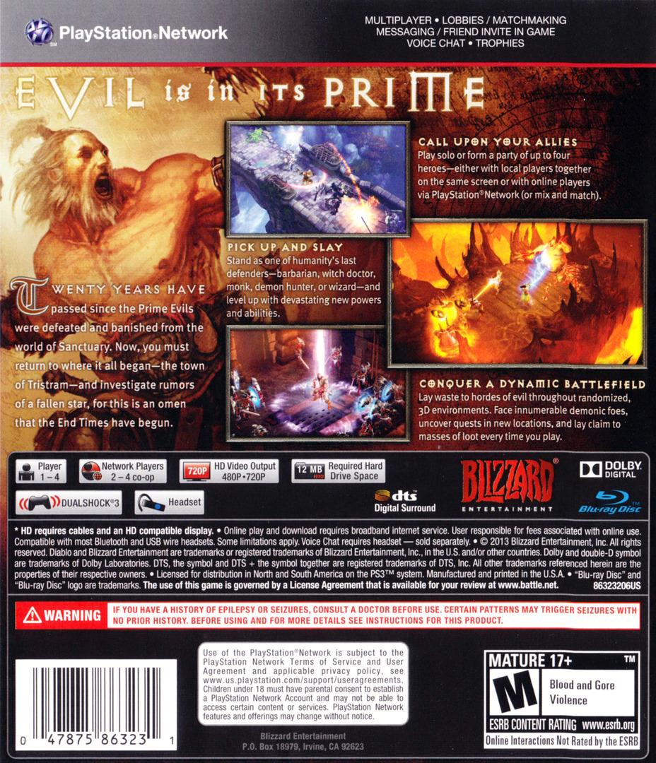 Diablo III PS3 backHQ (BLUS31188)