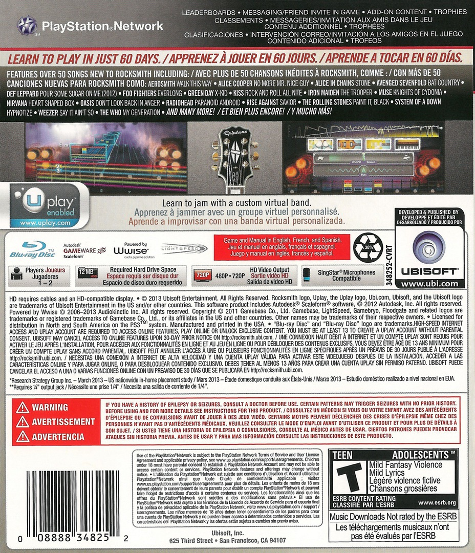 Rocksmith 2014 Edition PS3 backHQ (BLUS31354)