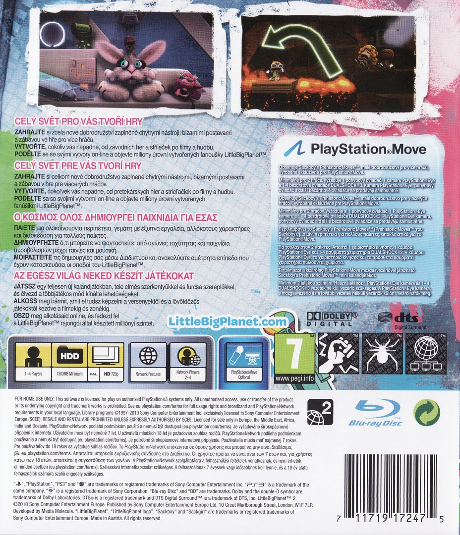 LittleBigPlanet 2 PS3 backHQ (BCES00850)