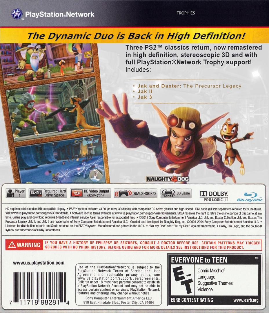 Jak & Daxter  Collection PS3 backHQ2 (BCUS98281)
