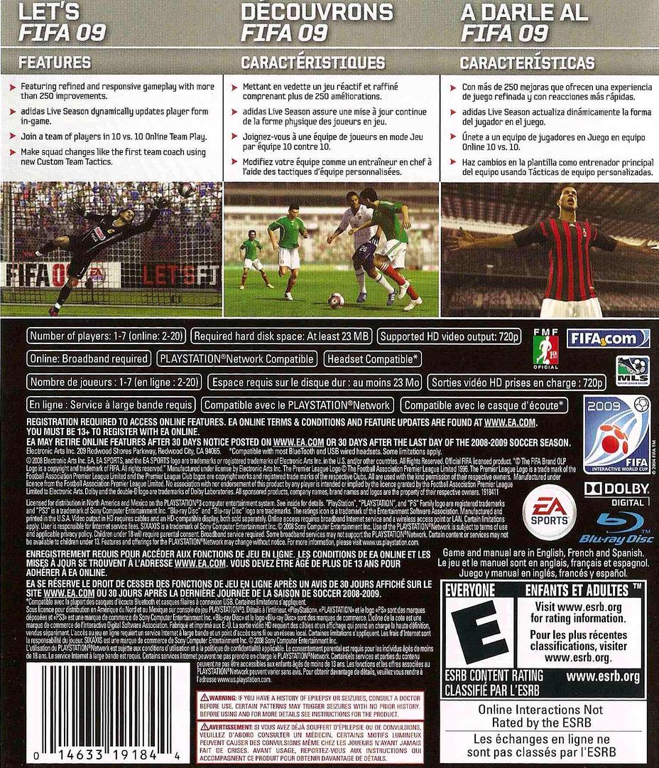 FIFA Soccer '09 PS3 backHQ2 (BLUS30176)