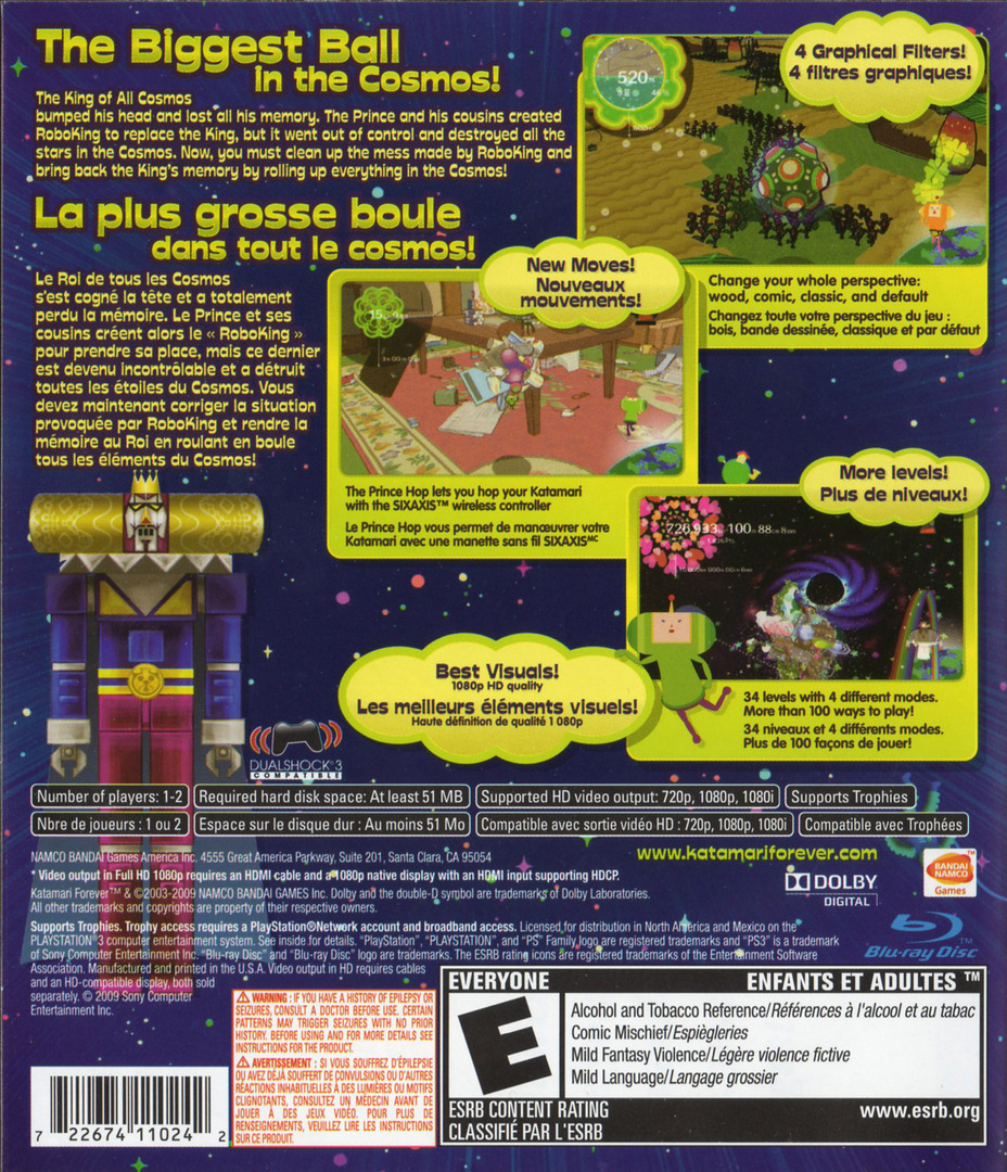 Katamari Forever PS3 backHQ2 (BLUS30336)