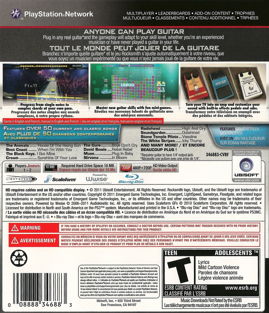 Rocksmith Authentic Guitar Games PS3 backHQ2 (BLUS30670)