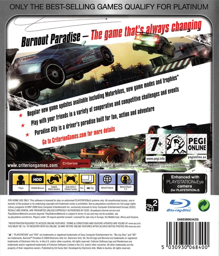 Burnout Paradise PS3 backHQB (BLES00073)