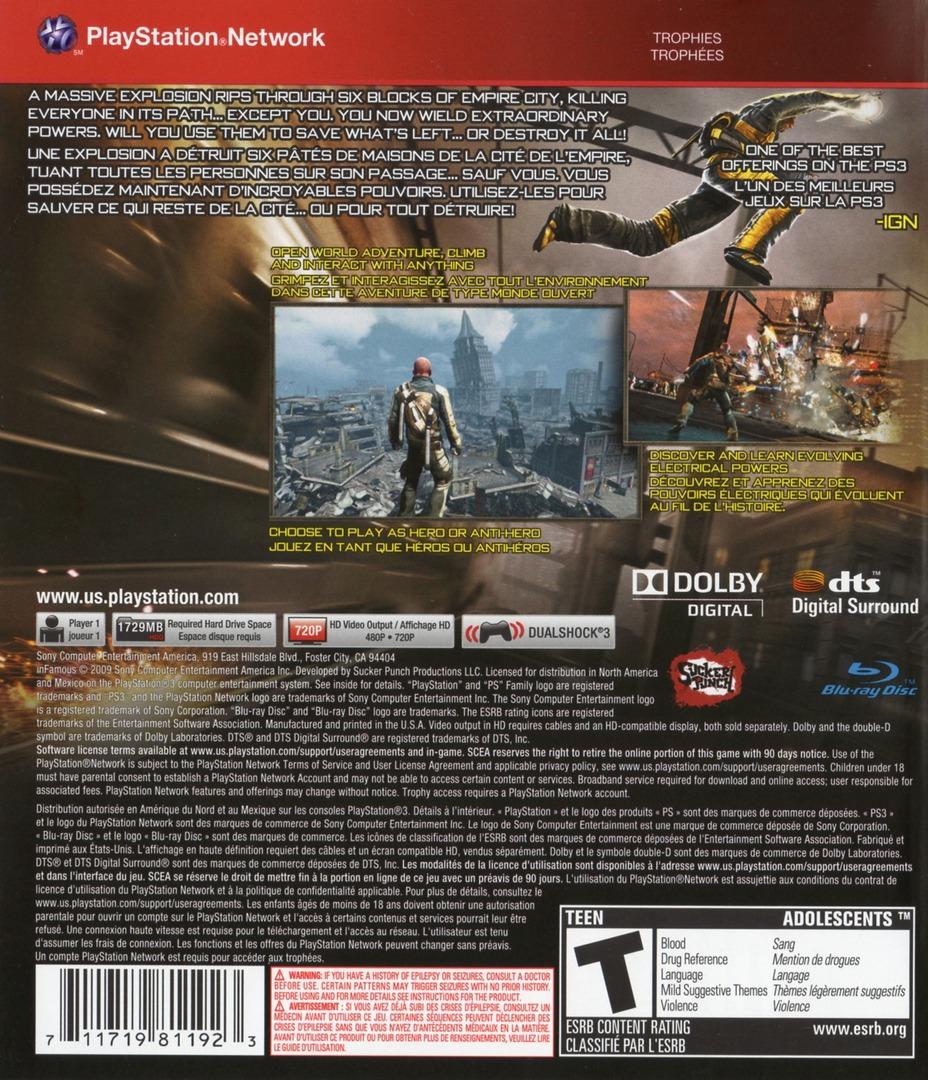 inFamous PS3 backHQB (BCUS98154)