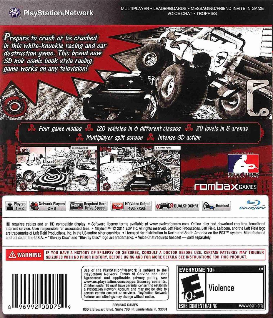 Mayhem PS3 backHQB (BLUS30694)