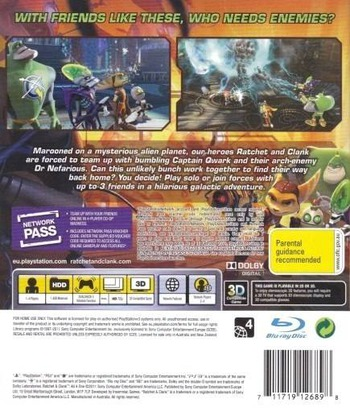 Ratchet & Clank: All 4 One PS3 backM (BCES01141)