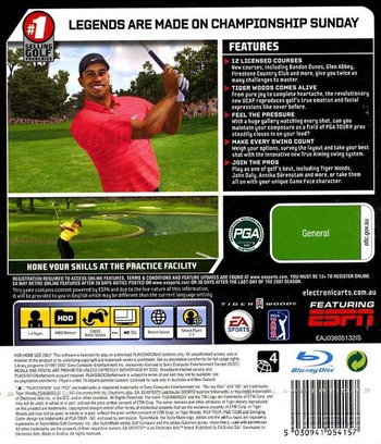 Tiger Woods PGA Tour 2007 PS3 backM (BLES00012)