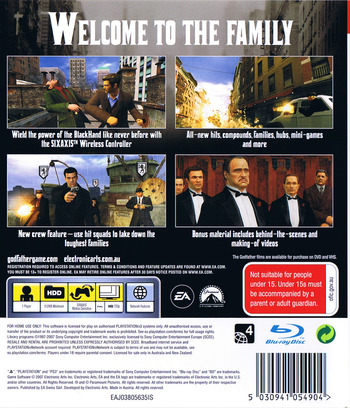 The Godfather: The Don's Edition PS3 backM (BLES00043)